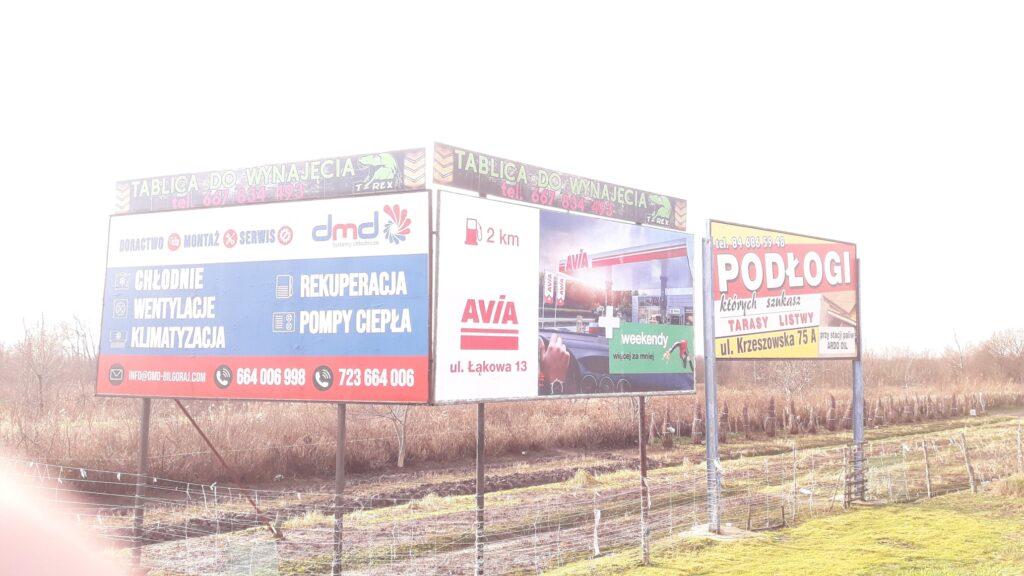 T-REX drukarnia agencja reklamowa, oklejanie billboardów (bilbordów)