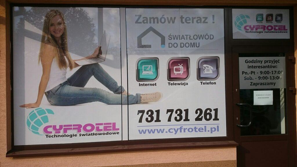 T-REX drukarnia agencja reklamowa,oklejanie witryn sklepowych
