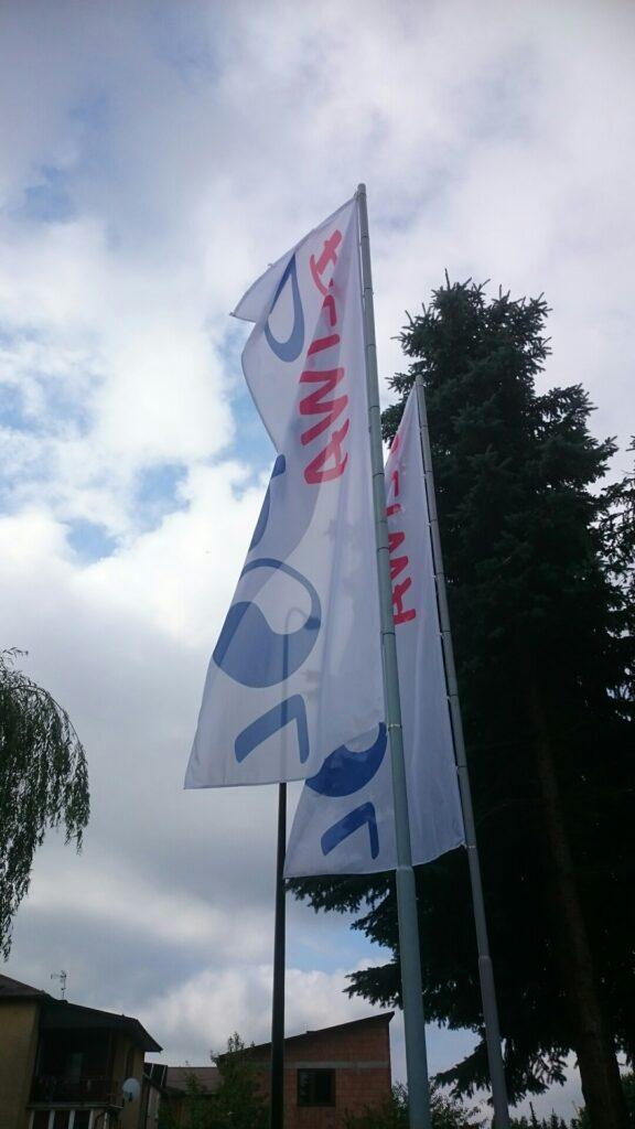 T-REX drukarnia agencja reklamowa, flagi reklamowe